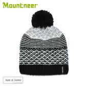 【Mountneer 山林 保暖針織毛線帽《黑》】12H62/毛帽/保暖帽/休閒帽