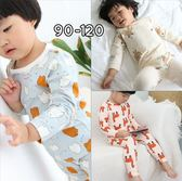 兒童印花睡衣居家服兒童韓版萊卡可愛套裝2件式寶寶