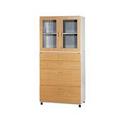 【YUDA】WD4+WG2 鋼木櫃/鐵櫃(二大二小上玻) 文件櫃/展示櫃/公文櫃