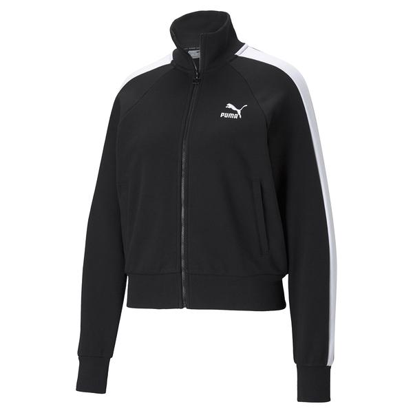 PUMA 女款黑色流行系列 T7立領外套-NO.53007801
