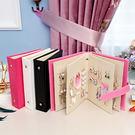 創意攜帶式耳環收納本/展示本(1入) 玫紅/黑色/白色/粉色 4款可選【小三美日】