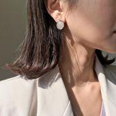 耳環 復古石紋耳釘氣質韓國個性琥珀耳環百搭幾何耳飾品 巴黎春天