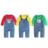 Augelute 男寶寶假吊帶造型長袖連身衣 Cosplay服裝 變裝造型服 12021