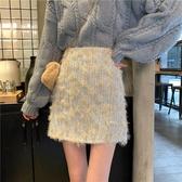 秋冬新款高腰氣質小香風顯瘦洋氣很仙的A字半身裙女時尚短裙 雅楓居