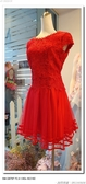 (45 Design高雄實體店面) 現貨零碼-極速出貨-特賣出清 大尺寸 小尺寸洋裝 短禮服 媽媽服伴娘 S153