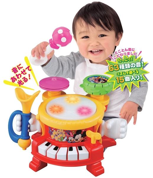 日本 正版 Disney 迪士尼 TAKARA TOMY 小小演奏家 寶寶音感學習 益智【小福部屋】