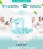奶瓶消費鍋嬰兒奶瓶消毒器多功能蒸汽消毒鍋大容量恒溫器殺菌機防干燒莎瓦迪卡    汪喵百貨