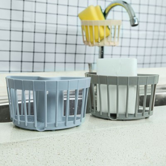 瀝水籃 收納籃 掛架 水槽 洗手台 卡扣式 居家收納  多功能收納瀝水籃✭米菈生活館✭【Q100】