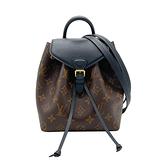 【台中米蘭站】全新品 Louis Vuitton Montsouris BB 帆布後背包(M45516-黑)