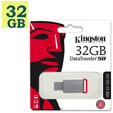Kingston 32GB 32G【DT50】Data Traveler 50 DT50 DT50/32GB USB 3.1 金士頓 原廠保固 隨身碟