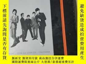 二手書博民逛書店ARASHI罕見2008.04-2009.03 CALENDAR