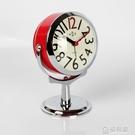 鬧鐘創意小鐘表學生簡約可愛時鐘靜音床頭臺鐘兒童迷你臥室夜光鐘 極有家