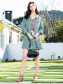 早春上市[H2O]搭配格子布腰帶超顯瘦短裙(內裏褲裡) - 粉/淺藍綠/牛仔淺藍色 #0682004