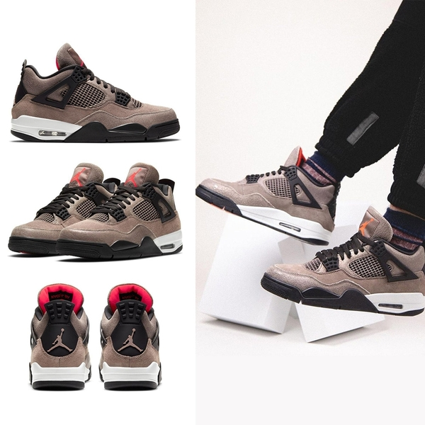 Nike Air Jordan 4 Retro 男 黑棕 AJ4 經典 麂皮 運動 休閒 籃球鞋 DB0732-200