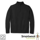 【SmartWool 美國 男 Sparwood半開襟毛衣《炭黑色》】SW000299/保暖上衣/休閒衫