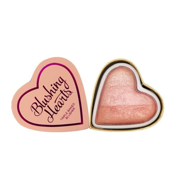 英國 Makeup Revolution Peachy Pink Kisses 桃紅色的吻心型腮紅