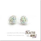 銀飾純銀耳環 SWAROVSKI水鑽 七彩白繽紛球球 鑽)賺滿滿 925純銀寶石耳環 KATE 銀飾