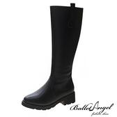 長靴 經典極簡素面長筒跟靴(黑)*BalletAngel【18-1938-1bk】【現+預】