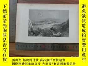 二手書博民逛書店【罕見】19世紀 銅 鋼版畫 單幅 VIEW ON THE ME
