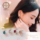 耳環 韓國直送水鑽星星月亮造型耳環(夾式...
