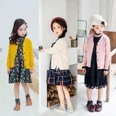 少女繩結造型針織外套 童裝 外套