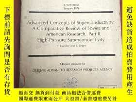 二手書博民逛書店advanced罕見concepts of superconductivity:A comparative rev