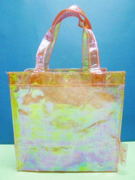 【震撼精品百貨】Hello Kitty 凱蒂貓~小手提袋『橘底浮雕』