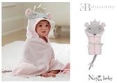 【美國Elegant Baby】動物造型連帽浴巾- 老鼠小公主 79597