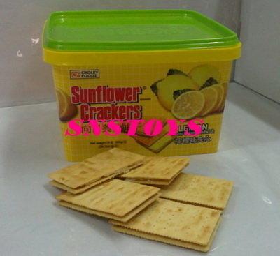 sns 古早味 向日葵夾心餅 向日葵 餅乾 有乳酪(起士).檸檬 口味 夾心餅 (桶)(菲律賓進口)