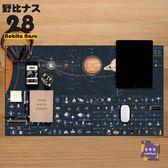 滑鼠墊 滑鼠墊超大加厚新款璀璨宇宙星河人類探索圖 天文周邊 桌墊