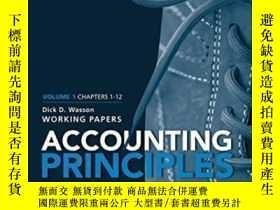 二手書博民逛書店Accounting罕見Principles Volume 1 Chapters - 12: Working Pa
