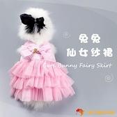 兔子衣服寵物兔百褶裙垂耳兔侏儒兔幼兔衣服吊帶裙【小獅子】