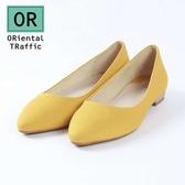 【ORiental TRaffic】素色舒適百搭平底鞋-俏皮黃
