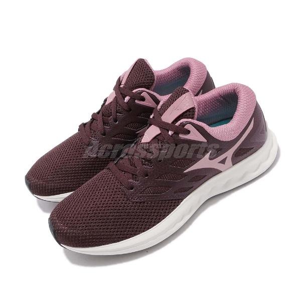 Mizuno 慢跑鞋 Wave Polaris EZ 紅 粉紅 低筒 舒適緩震中底 運動鞋 女鞋【ACS】 J1GD1982-67
