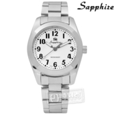 SE Sapphire / SE013L01W / 簡潔大方夜光藍寶石水晶不鏽鋼手錶 白色 29mm