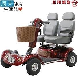 【海夫健康生活館】必翔 電動代步車 雙人座椅(TE-889DXD)