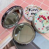折疊隨身雙面化妝鏡(寬圓)