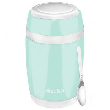 MoliFun魔力坊 不鏽鋼真空保鮮保溫燜燒食物罐550ml 清新綠