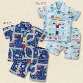 日本西松屋童裝 睡衣套裝 淺藍深藍  【NI202310331】