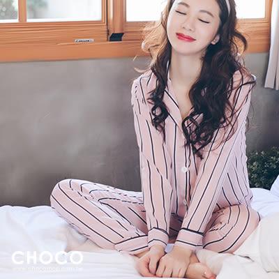 紅粉佳人‧蕾絲柔紗成套睡衣(粉色)M-L Choco Shop