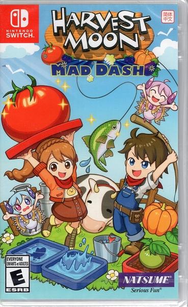 【玩樂小熊】現貨中 Switch遊戲NS 豐收之月 瘋狂衝刺 Harvest Moon Mad Dash 中文版