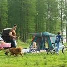 【限時下殺89折】露營帳篷 全自動帳篷戶外二室一廳3-4人加厚防雨2人單人野外露營野營dj
