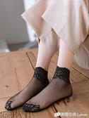 襪子女ins潮蕾絲花邊絲襪短襪女士網紗襪中筒春夏薄款純棉底船襪 檸檬衣舍
