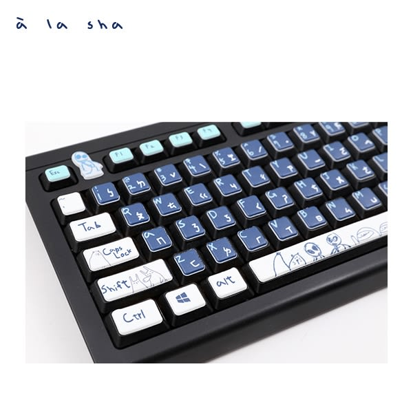 a la sha Qummi 家族圖案鍵盤泡泡貼