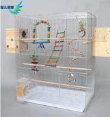 (一件免運)加粗電鍍鋅超大號鳥籠 大型籠子 繁殖籠鴿子籠 配對籠A02XW