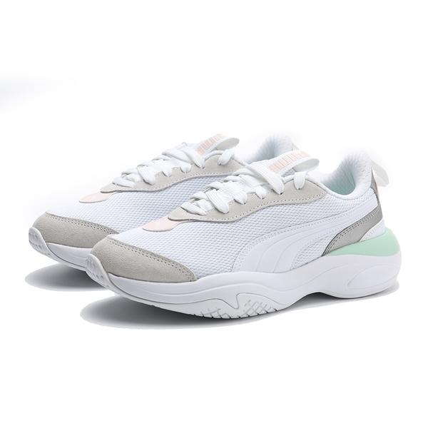 PUMA 休閒鞋 VAL 白 粉綠 銀 厚底 網布 老爹鞋 女 (布魯克林) 37223906