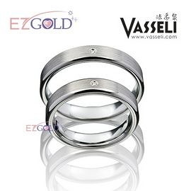 VASSELI ◤情定紐約◢ 鎢鋼鑽石戒(男)