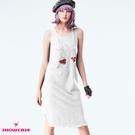 【SHOWCASE】休閒透氣後V交叉連身長版背心裙(白)