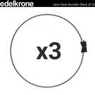 EGE 一番購】土耳其 edelkrone【Lens Gear Bundle】3入 鏡頭跟焦齒環【公司貨】