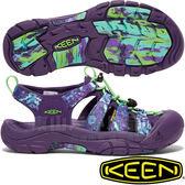 KEEN 1018211紫/印花 Newport Retro 女戶外護趾涼鞋 水陸兩用溯溪鞋/運動健走鞋/沙灘戲水拖鞋